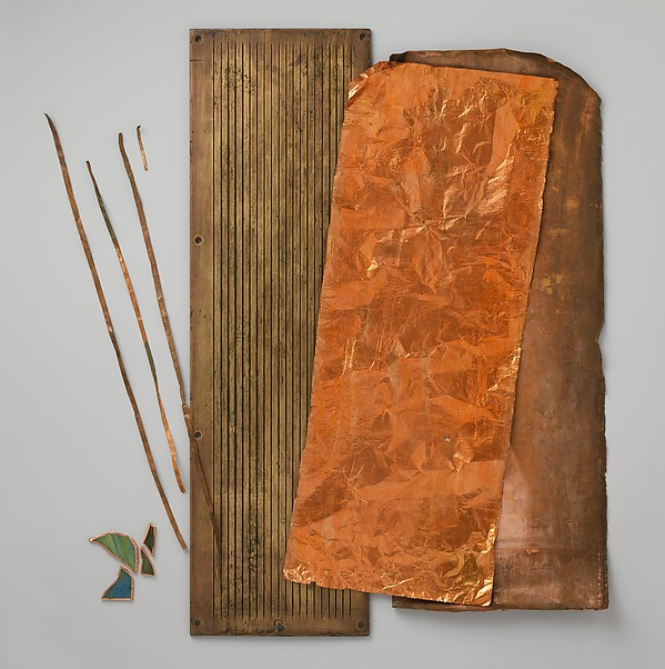 Sample copper sheet from Tiffany Studios, Tiffany Studios (1902–32), Copper, American