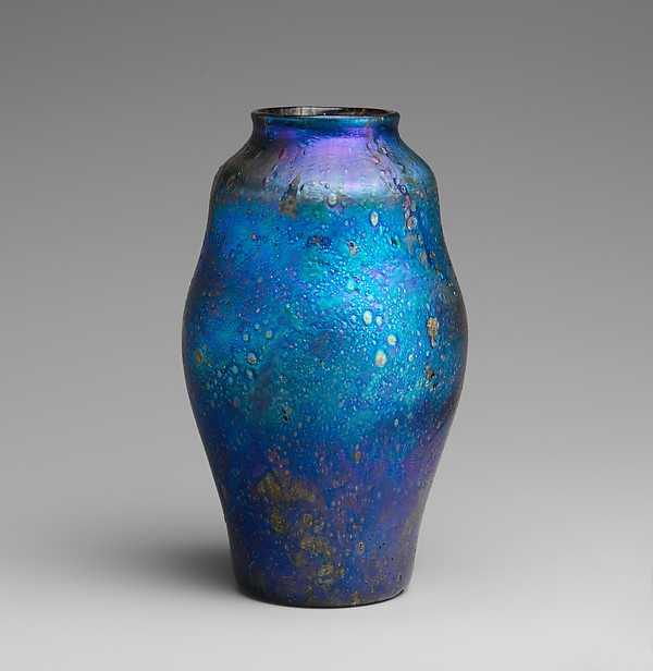 Vase, Designed by Louis Comfort Tiffany (American, New York 1848–1933 New York), Favrile glass, American