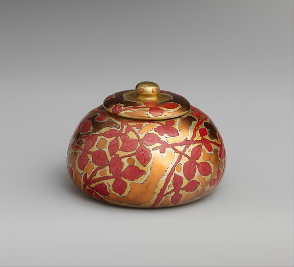 Covered Box, Designed by Louis Comfort Tiffany (American, New York 1848–1933 New York), Enamel on copper, American