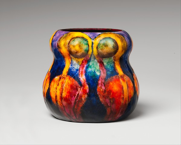Vase, Designed by Louis Comfort Tiffany (American, New York 1848–1933 New York), Enamel on copper, American