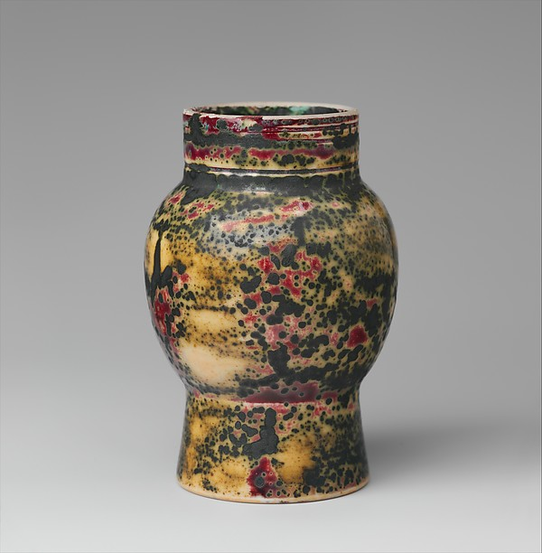 Vase, Designed by Louis Comfort Tiffany (American, New York 1848–1933 New York), Porcelaneous earthenware, American