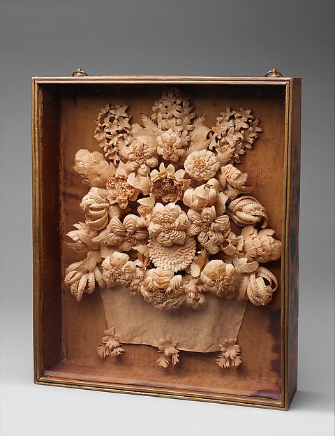 Quillwork Shadowbox, Myra Bates (Willcutt) (1798–1885), Paper, maple, pine, and glass, American