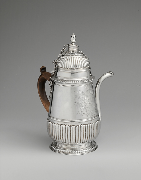 Chocolate Pot, Edward Winslow (1669–1753), Silver, American