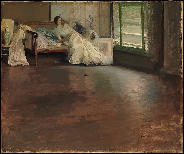 Across the Room, Edmund Charles Tarbell (1862–1938), Oil on canvas, American