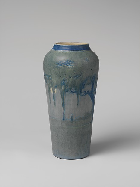 Vase, Newcomb Pottery (1894–1940), Painted and glazed earthenware, American