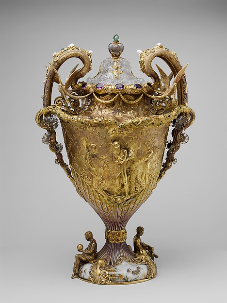 The Adams Vase, Designed by Paulding Farnham (1859–1927), Gold, amethysts, spessartites, tourmalines, fresh water pearls, quartzes, rock crystal, and enamel, American