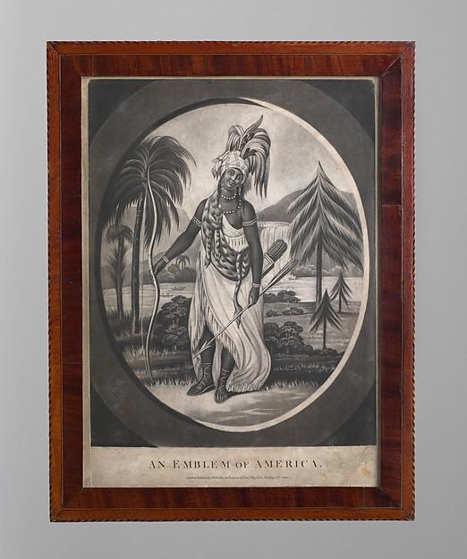 Framed Print, Mahogany veneer, white pine, poplar, American
