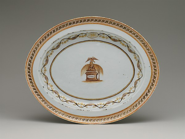 Platter, Porcelain, Chinese, for American market