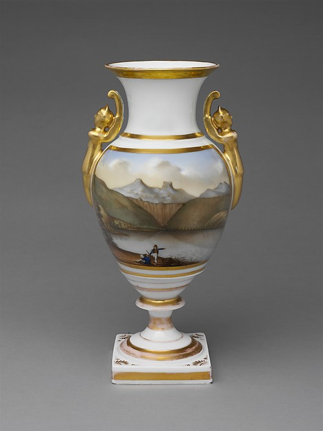 Vase, Probably decorated by Thomas Tucker (1812–1890), Porcelain, American