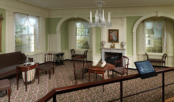 Parlor from the William Moore House, Wood, composition ornament, American