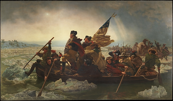 Washington Crossing the Delaware, Emanuel Leutze (American, Schwäbisch Gmünd 1816–1868 Washington, D.C.), Oil on canvas, American