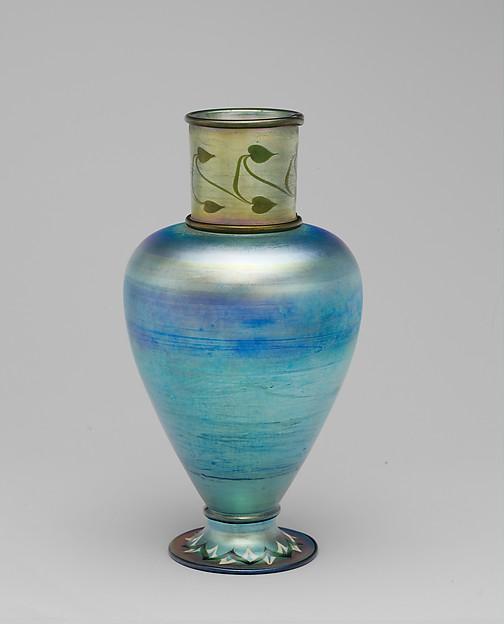 Vase, Louis Comfort Tiffany (American, New York 1848–1933 New York), Glass, American