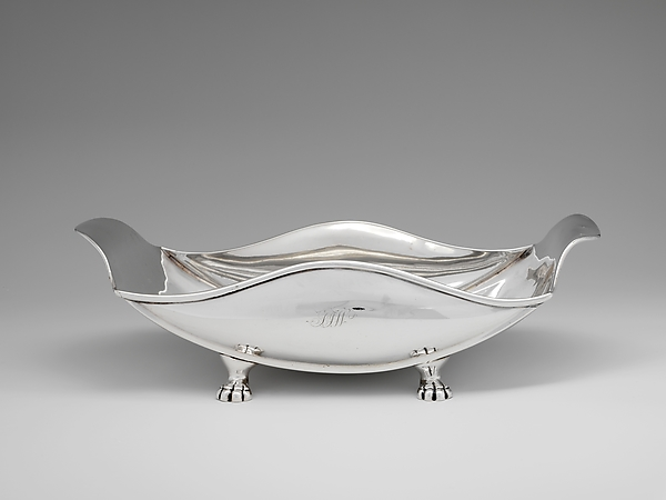 Dish, Frederick Marquand (1799–1882), Silver, American