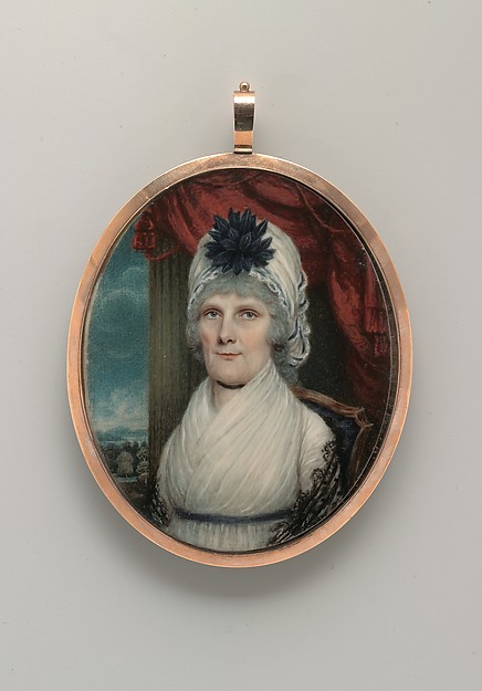 Portrait of a Lady, Robert Field (American (born England), Gloucestershire ca. 1769–1819 Kingston, Jamaica), Watercolor on ivory, American