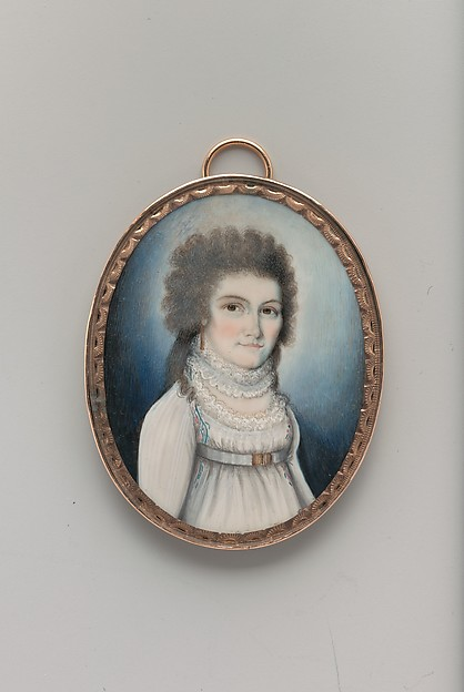 Clarissa Storrs, William Verstille (American, Boston, Massachusetts 1757–1803 Boston, Massachusetts), Watercolor on ivory, American