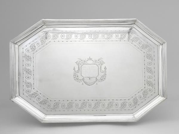 Tea Tray, John McMullin (1765–1843), silver, American