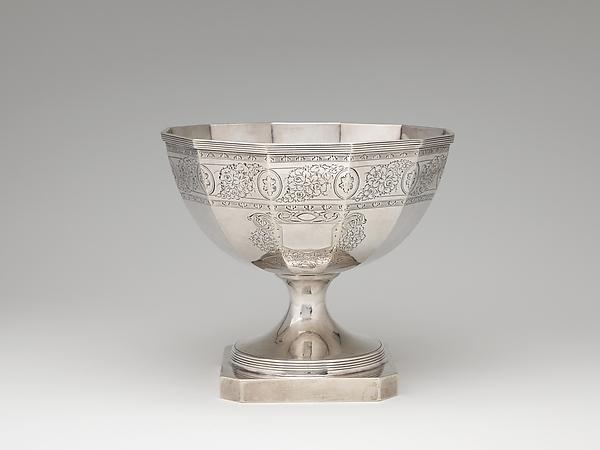 Waste Bowl, John McMullin (1765–1843), silver, American