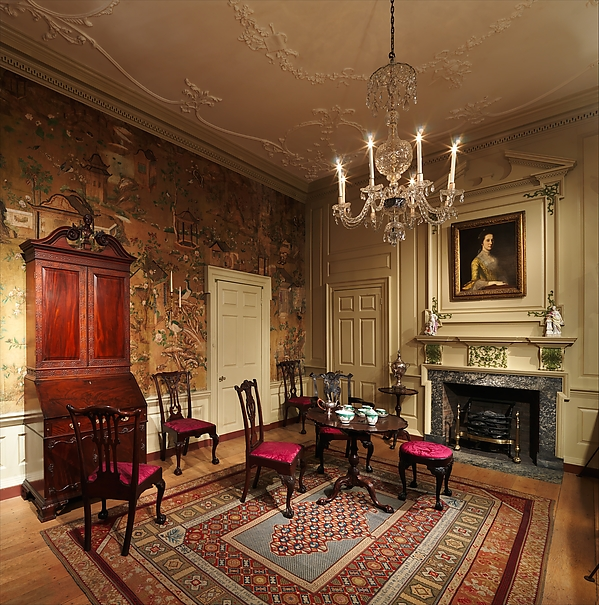 Room from the Powel House, Philadelphia, Wood and plaster, American