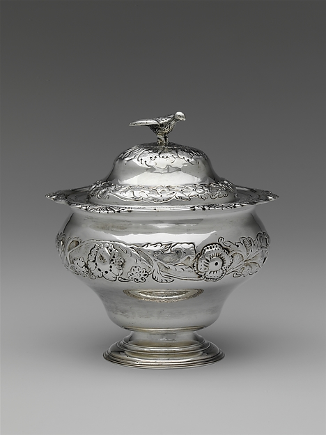 Sugar Bowl and Cover, John Bayly (American, ca. 1720–1789), Silver, American