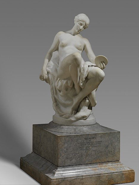 Memory, Daniel Chester French (American, Exeter, New Hampshire 1850–1931 Stockbridge, Massachusetts), Marble, American