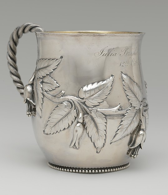 Cup, Edward C. Moore (American, New York 1827–1891 New York), Silver and silver gilt, American