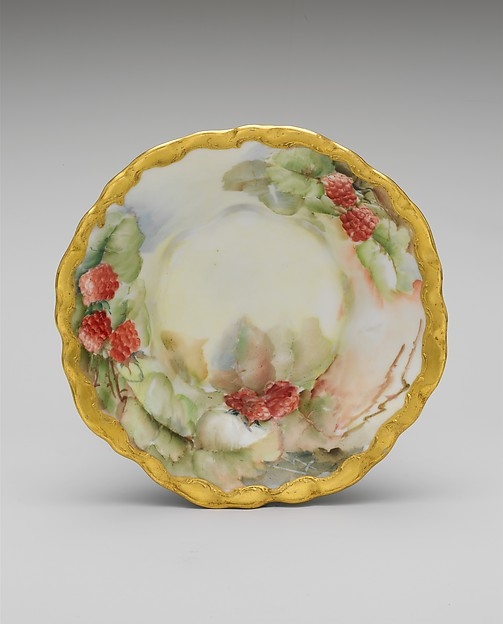 Dish, R. C., Porcelain, overglaze enamel decoration and gilding, American or German