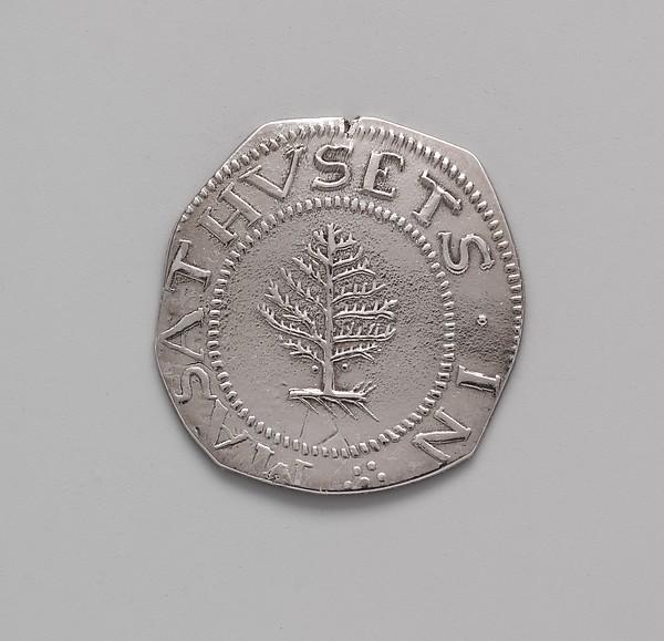 Shilling, John Hull (1624–1683), Silver, American