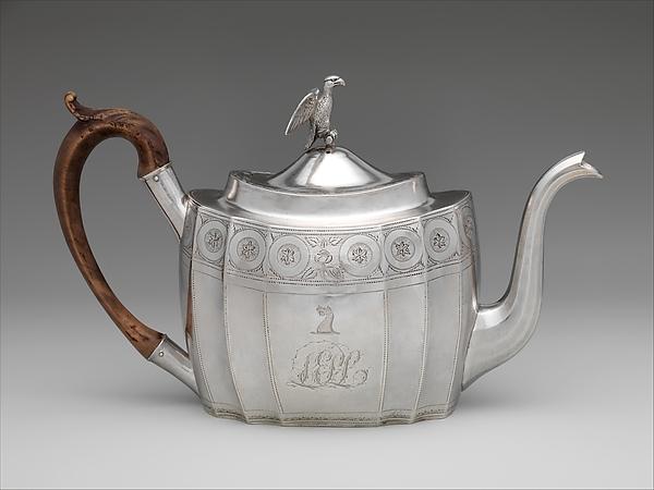 Teapot, Attributed to Christian Wiltberger (American, Philadelphia, Pennsylvania 1766–1851 Philadelphia, Pennsylvania), Silver, American