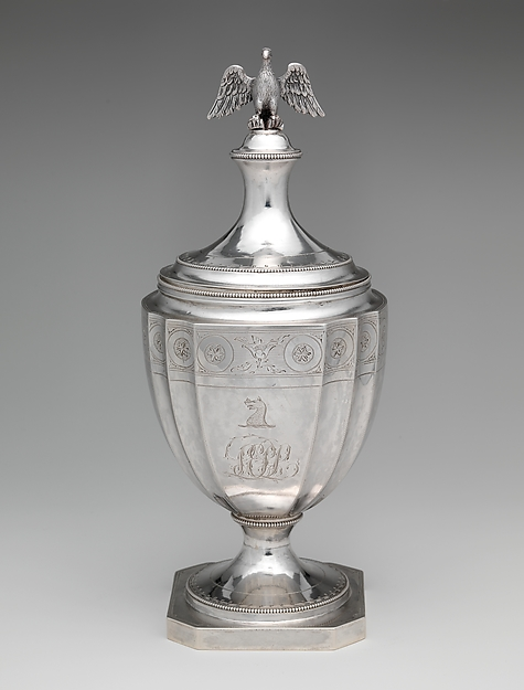 Sugar Bowl, Attributed to Christian Wiltberger (American, Philadelphia, Pennsylvania 1766–1851 Philadelphia, Pennsylvania), Silver, American