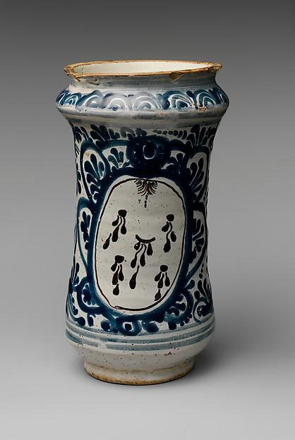 Apothecary Jar, Tin-glazed earthenware, Mexican