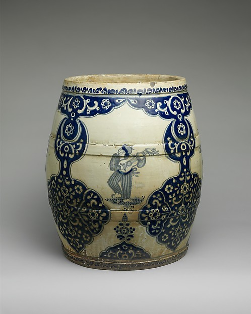 Flower Pot, Tin-glazed earthenware, Mexican