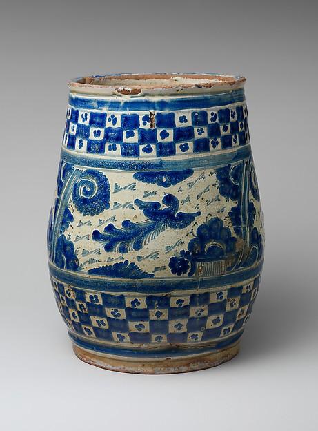 Flower Pot, Tin-glazed earthenware, Mexican