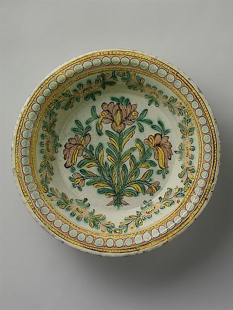 Wash Basin, Tin-glazed earthenware, Mexican