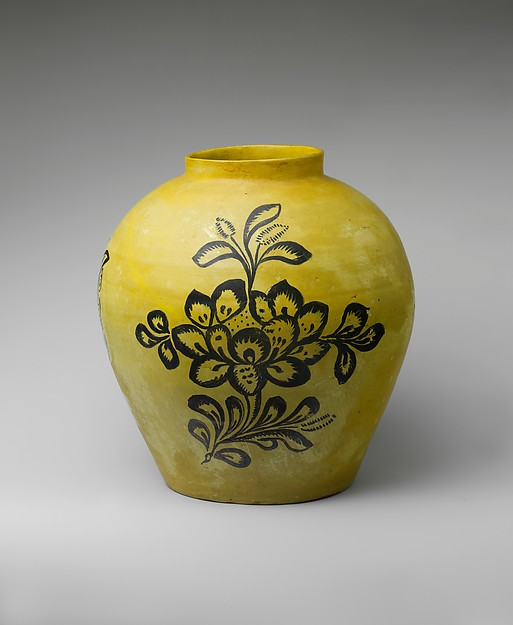 Jar, Tin-glazed earthenware, Mexican