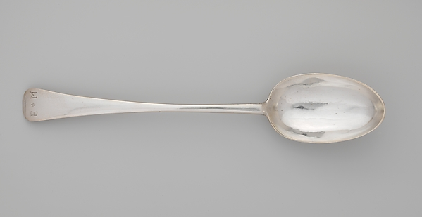 Serving Spoon, Nicholas Roosevelt (1715–1769), Silver, American