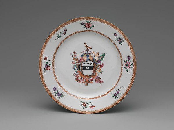 Bread Plate, Porcelain, Chinese, for American market