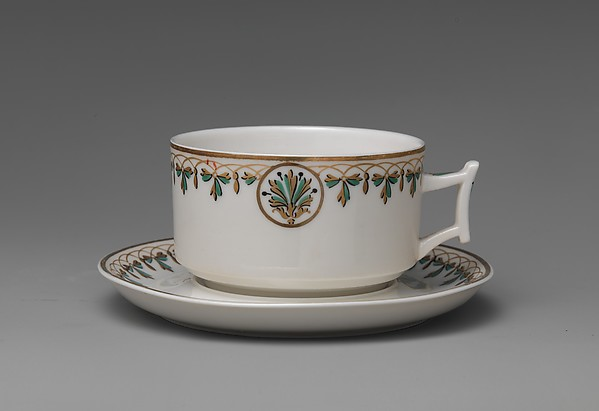 Coffee Cup and Saucer, Union Porcelain Works (1863–ca. 1922), Porcelain, American