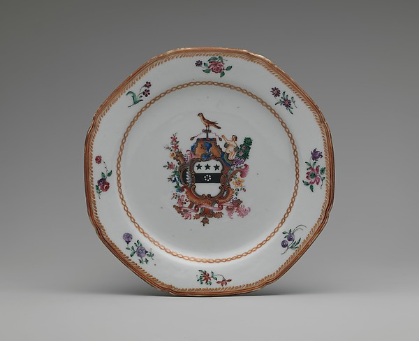 Soup Plate, Porcelain, Chinese, for American market