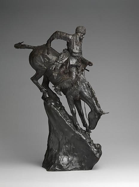 The Mountain Man, Frederic Remington (American, Canton, New York 1861–1909 Ridgefield, Connecticut), Bronze, American