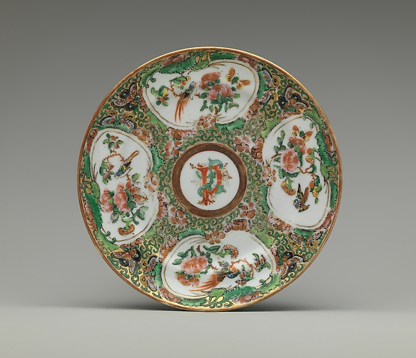 Saucer, Porcelain, Chinese, for American market