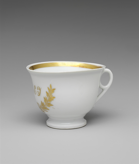 Cup and Saucer, Tucker Factory (1826–1838), Porcelain, American