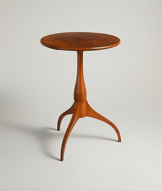 Candle Stand, Cherry, American, Shaker