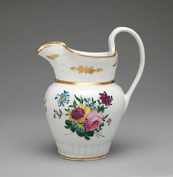 Pitcher, Tucker and Hemphill (1831–37), Porcelain, American