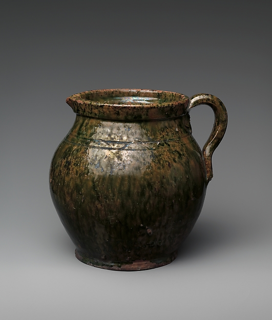 Pitcher, Probably earthenware, American