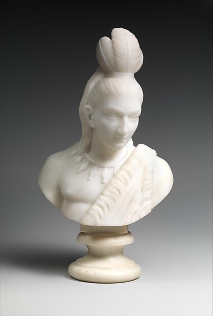Hiawatha, Edmonia Lewis (American, 1844–1907), Marble, American