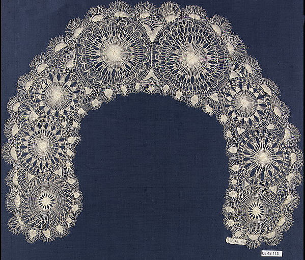 Lace collar, Embroidered net, Paraguayan
