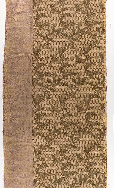 Sample, Candace Wheeler (American, Delhi, New York 1827–1923 New York), Silk and wool, woven, American