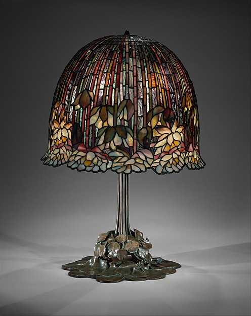 Lamp, Designed by Louis Comfort Tiffany (American, New York 1848–1933 New York), Leaded Favrile glass and bronze, American