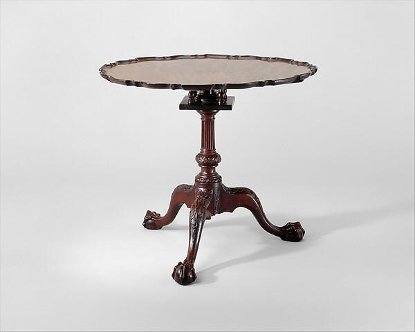 Round Tea Table, Mahogany, American