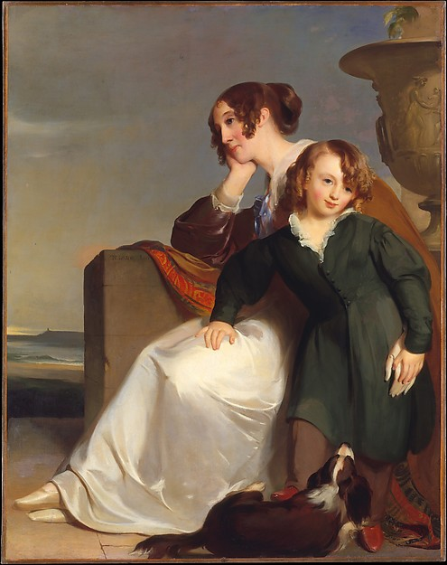 Mother and Son, Thomas Sully (American, Horncastle, Lincolnshire 1783–1872 Philadelphia, Pennsylvania), Oil on canvas, American